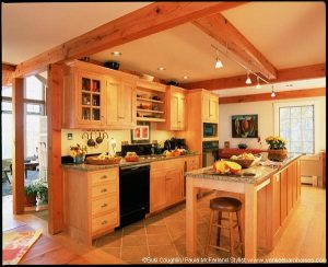 The kitchen is located off the dining room and great room.
