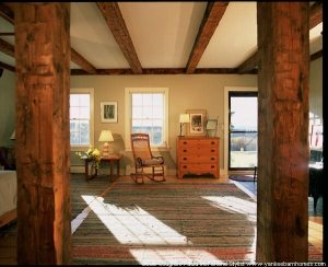 The master bedroom and sitting area now occupy the entire 18th Century cape.