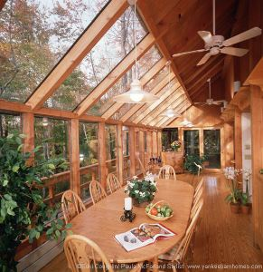 The post beam outdoor room for Log cabin sunroom additions
