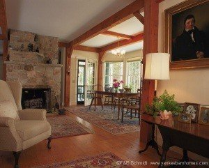 Higher ceilings and open areas negate the need for a vaulted ceiling.