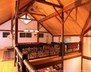 Adirondack timber frame house