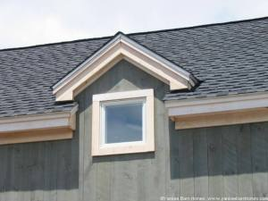 Gable dormer with barn window