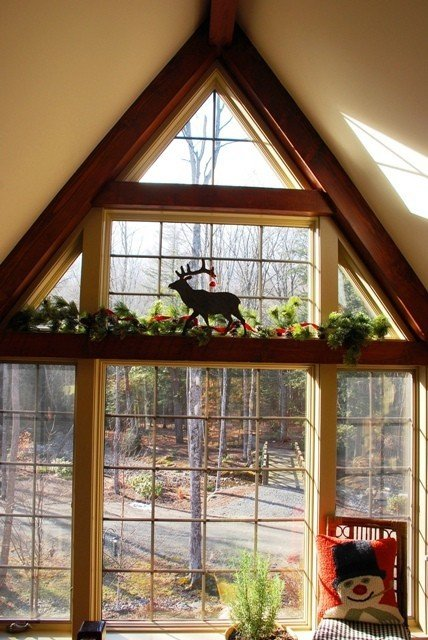 Holiday dreams in barn homes for A frame house decorating ideas