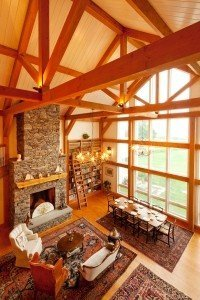Post and beam vaulted ceilings a natural high for Interior pictures of post and beam homes