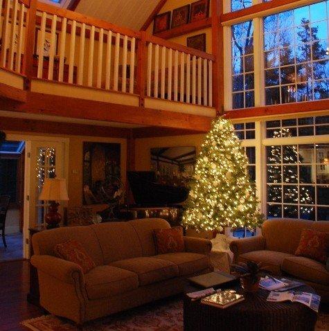 Great Room Christmas Yankee Barn Homes