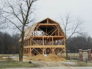 Barn with Gambrel Frame