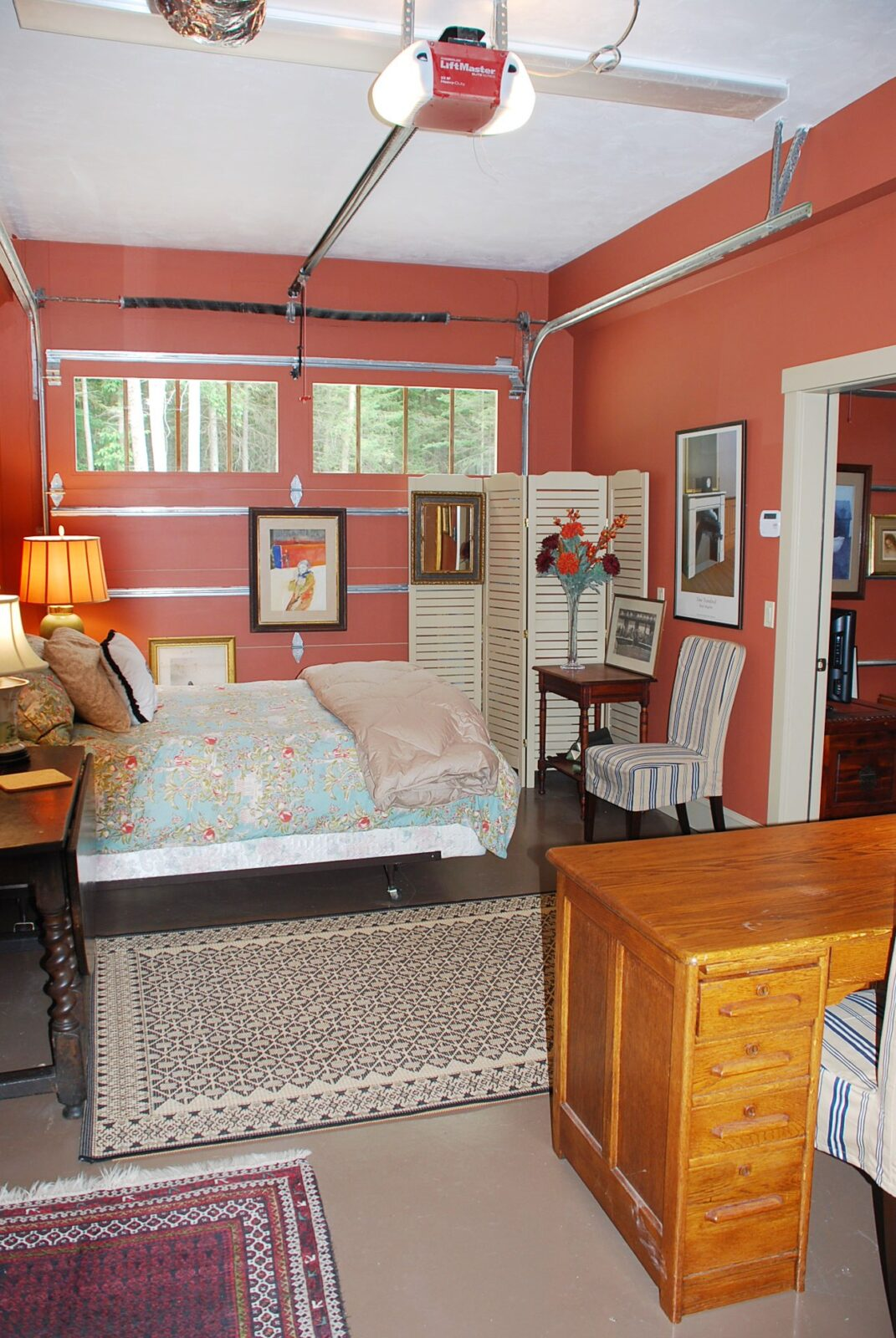 "garage bedroom ideas - My Carriage House First Floor The ""Man Cave"" Gets A Makeover"