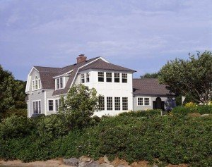 This fantastic seaside home sits on a half acre lot!