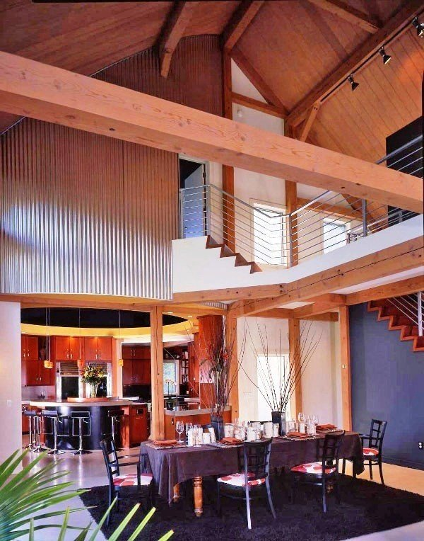 A Post Amp Beam Barn Addition Gets Quot The Full Contemporary