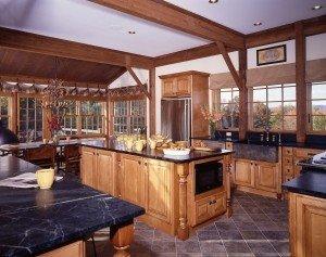 Ski House Post & Beam Kitchen
