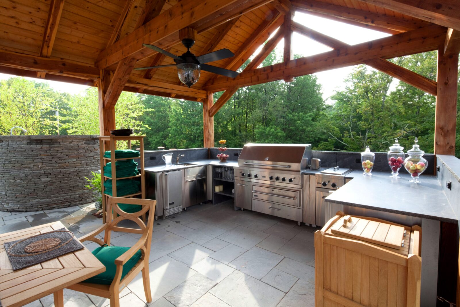 pool and outdoor kitchen designs outdoor living yankee barn homes 7523
