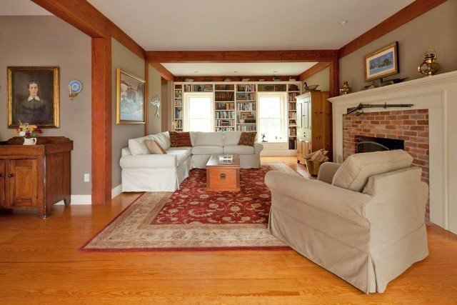 A post and beam farmhouse in vermont for The family room vermont