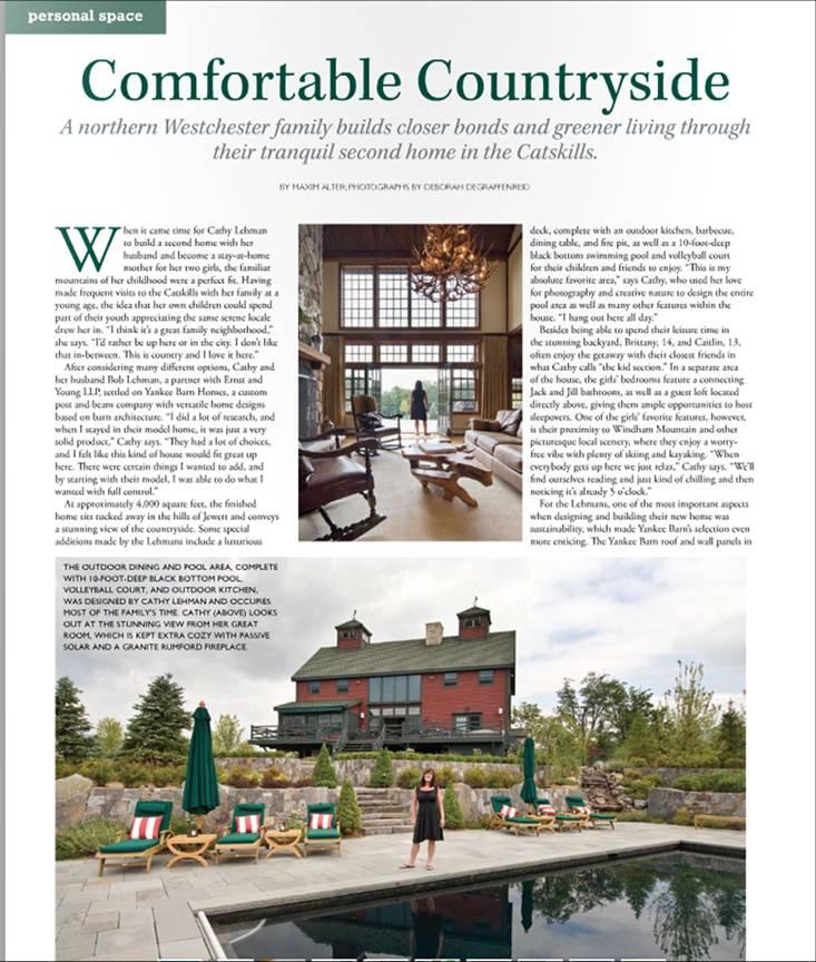 Barn Style Yankee Barn Home In New York House Magazine
