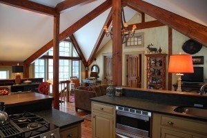 See the interior colors in this post and beam carriage house for Post and beam carriage house plans