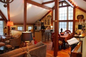 Our Post And Beam Carriage House The Interior Paint Colors And Decor