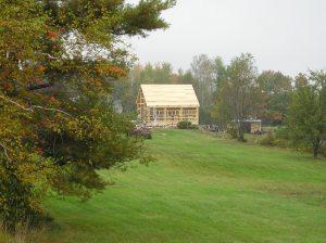 Timber Frame Maine Barn