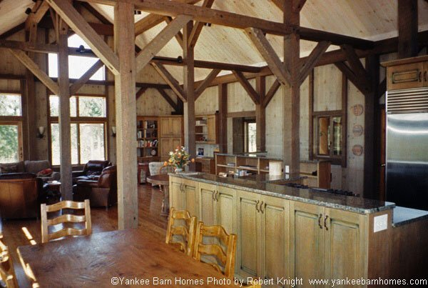 5 post and beam kitchens to inspire your design for Open beam house plans