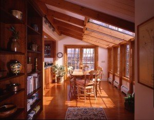 The post and beam kitchen for Post and beam kitchen ideas