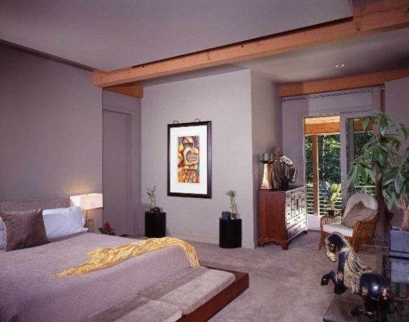 TImber Frame Master Bedroom with Floating Ceiling
