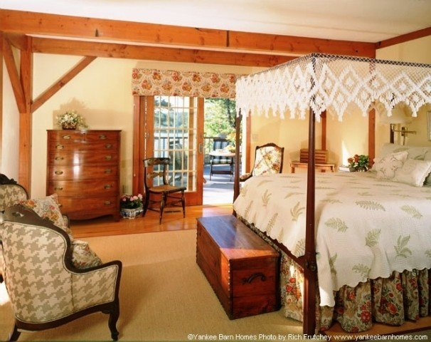 Timber Frame Master Bedroom Yankee Barn Homes