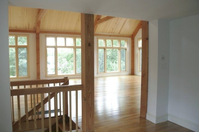 Large and small windows in a yankee barn home 6 tips for Large windows for homes