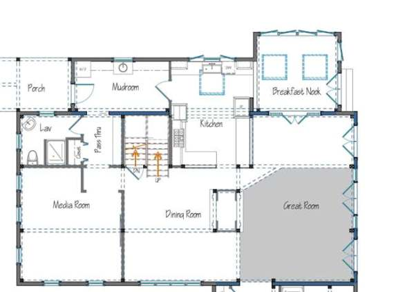 Small kitchen floor plans galley afreakatheart Barn house layouts