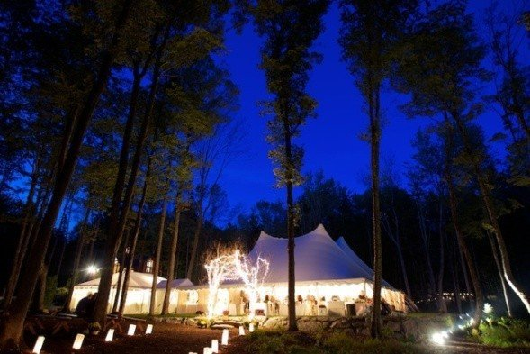 Wedding Tent Lighted