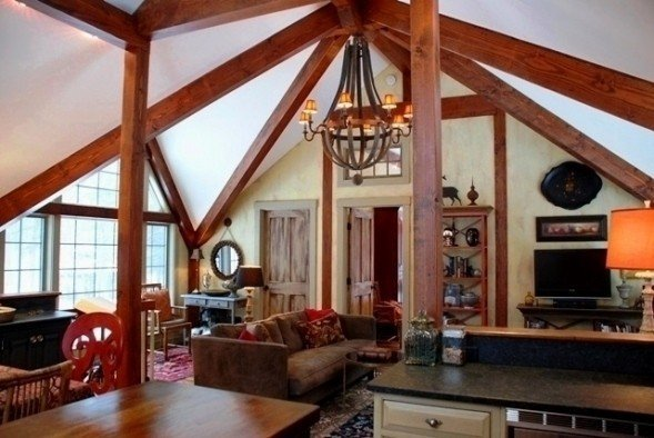 Living the post and beam dream in a yankee barn carriage house for Post and beam carriage house plans
