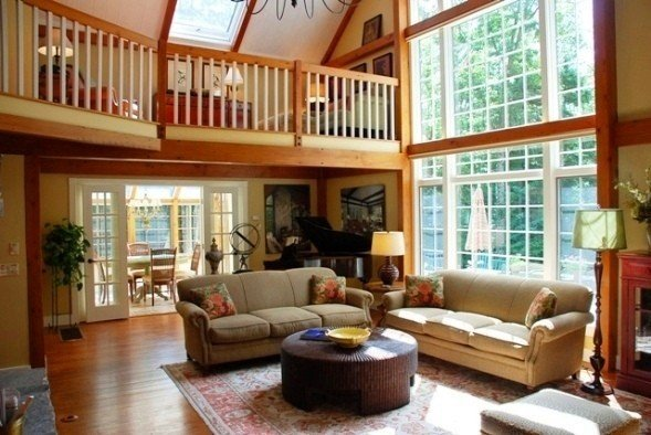 Modern Interior Post And Beam Decorating