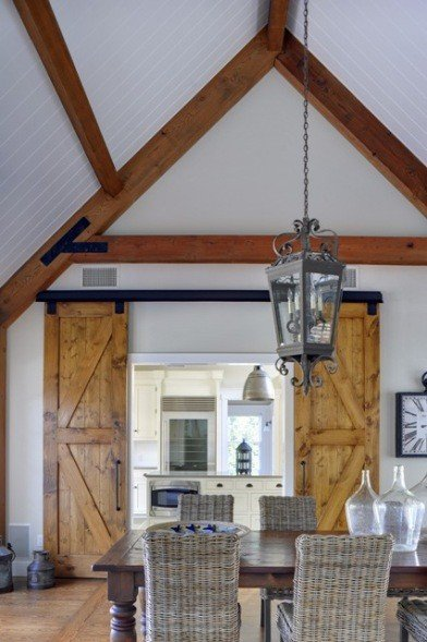 Yankee barn homes contemporary hamptons barn home for Barn doors to separate rooms