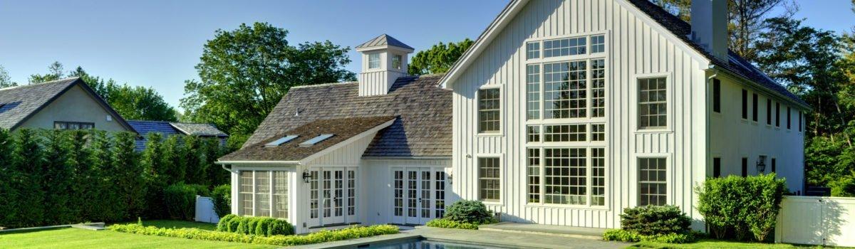 The Hampton's Contemporary Yankee Barn Home Laurel Hollow