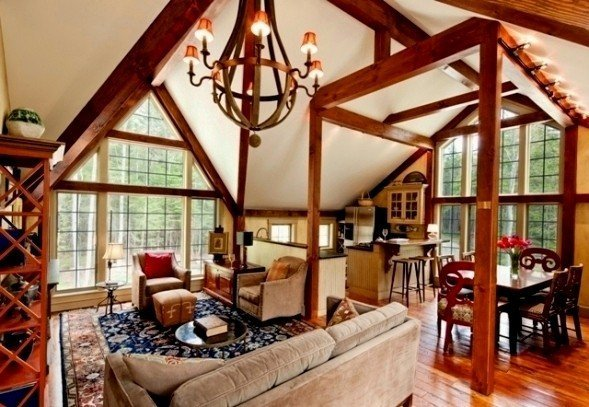 Barn houses eclectic interior decor examples - Barn house decor ...