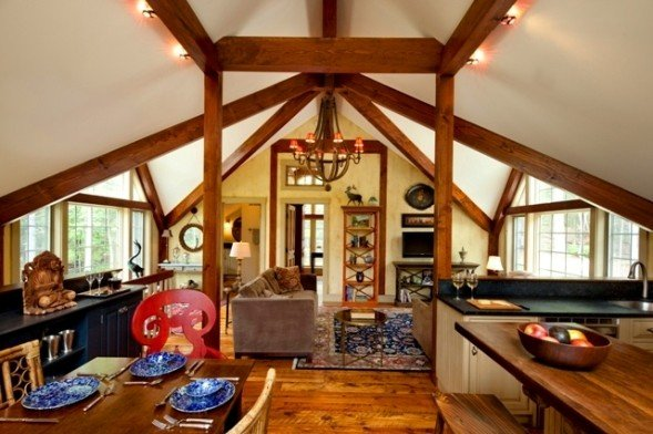 Barn houses eclectic interior decor examples for Carriage barn plans