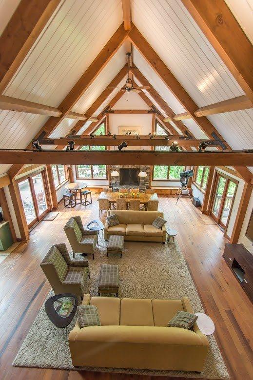 Kerr Creek Barn Home Great Room. Photography by Jane Daniels