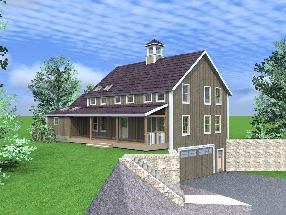 View floor plans and drawings of a new barn home by yankee for Barn style house plans