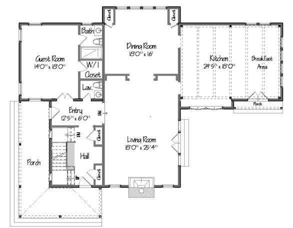 See the new yankee barn home shingle style floor plans here for Barn style homes floor plans