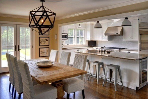 The New Barn Home Dining Room  Barn Room And Lights Adorable Combined Kitchen And Dining Room Design Decoration