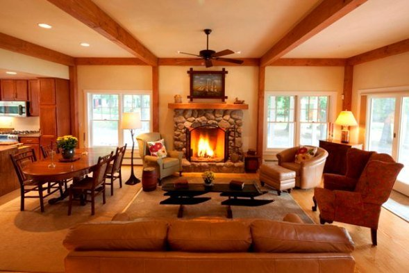 Post and beam floor plans that work for Interior pictures of post and beam homes
