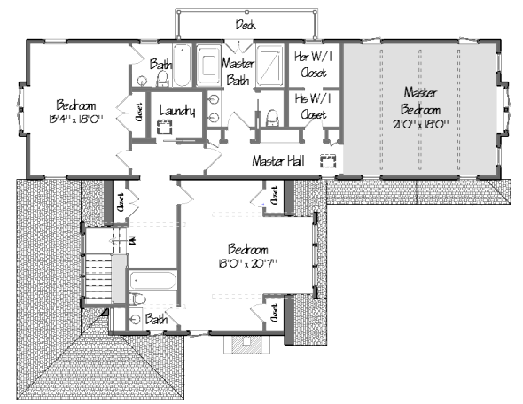 shingle style floor plan