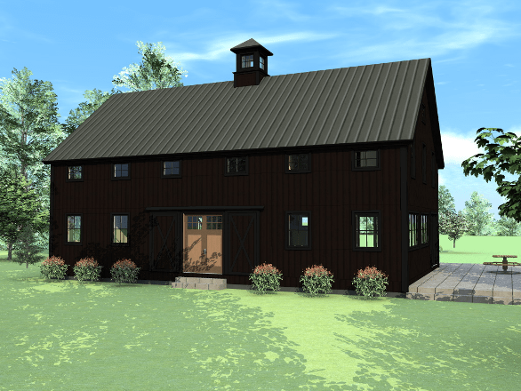The beauty of black barns and barn homes explored for Small barn house kits