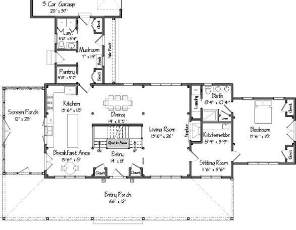 Barn house plans floor plans and photos from yankee barn for Barn house blueprints