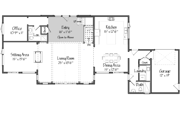 Barn house plans floor plans and photos from yankee barn for Modern barn house floor plans