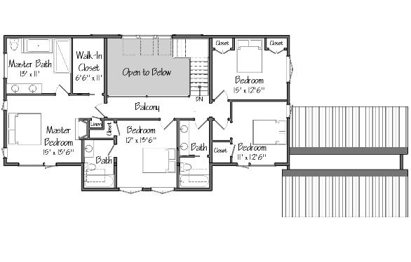 Barn House Plans Oyster Shores Level Two Floor