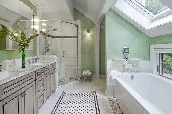 one barn house floor plan 3 unique interpretations the master bath. Black Bedroom Furniture Sets. Home Design Ideas