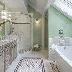 One Barn House Floor Plan, 3 Unique Interpretations: The Master Bath