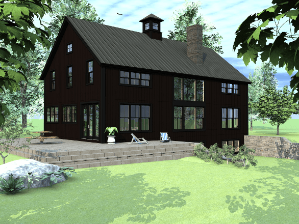 Newest barn house design and floor plans from yankee barn for Barn home builders