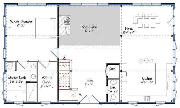Barn House. The Suffolk Level One Floor Plans