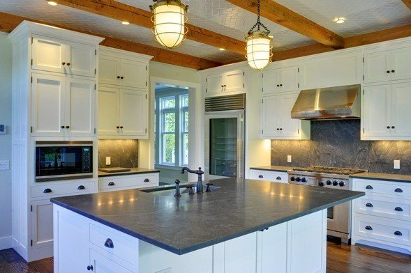The latest trends in post and beam kitchens for Barn style kitchen cabinets