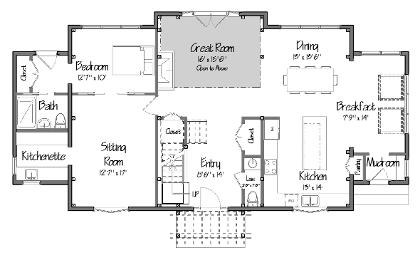 post and beam the tarrytown level one floor plans