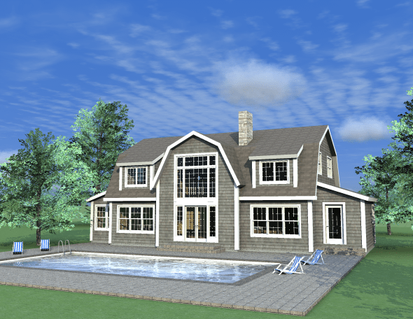 New post and beam dutch colonial design from yankee barn homes for Small gambrel house plans